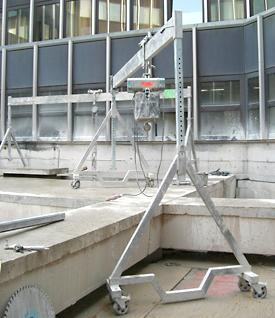 aluminium gantry crane movable asp 1000 feltes gmbh. Black Bedroom Furniture Sets. Home Design Ideas