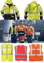 Vestuário de protecção e aviso
